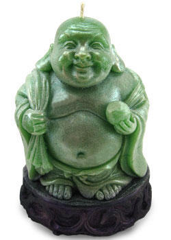 Lucky Buddha Cash Candle - Buddha Money Candle